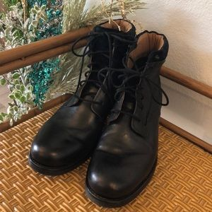 NWT Aldo Black Leather Combat Boots 13